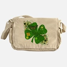 Fancy Irish 4 leaf Clover Messenger Bag