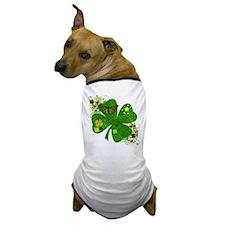 Fancy Irish 4 leaf Clover Dog T-Shirt