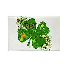 Fancy Irish 4 leaf Clover Rectangle Magnet