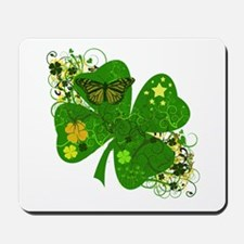 Fancy Irish 4 leaf Clover Mousepad