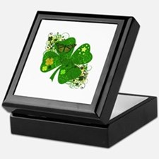 Fancy Irish 4 leaf Clover Keepsake Box