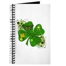 Fancy Irish 4 leaf Clover Journal