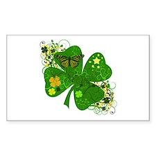 Fancy Irish 4 leaf Clover Decal