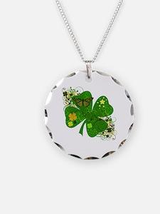 Fancy Irish 4 leaf Clover Necklace