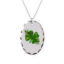 Fancy Irish 4 leaf Clover Necklace