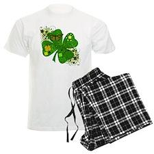 Fancy Irish 4 leaf Clover Pajamas