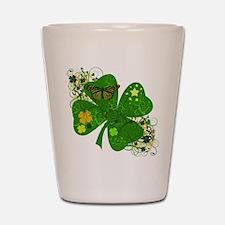 Fancy Irish 4 leaf Clover Shot Glass