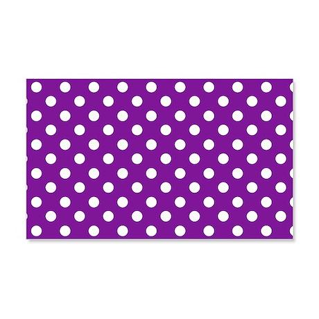 Purple and White Polka Dot 22x14 Wall Peel