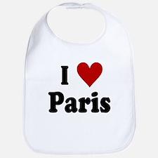 I Love Paris Bib