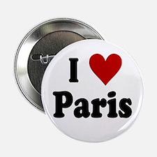 """I Love Paris 2.25"""" Button"""