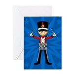 Nutcracker Soldier with Drums Greeting Card