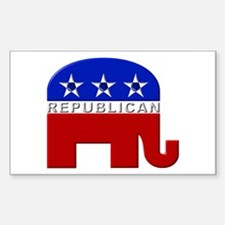 Republican Elephant Logo - Rectangle Decal