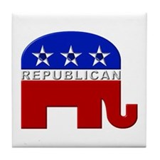 Republican Elephant Logo - Tile Coaster