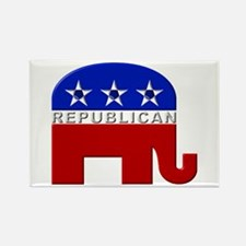 Republican Elephant Logo - Rectangle Magnet (10 pa