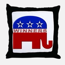 Republican Elephant Logo -  Throw Pillow