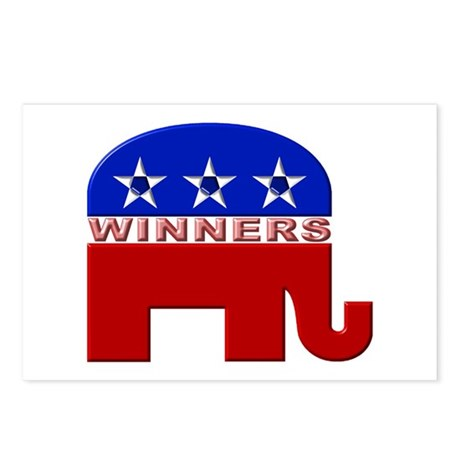 Republican Elephant Logo - Postcards (Package of