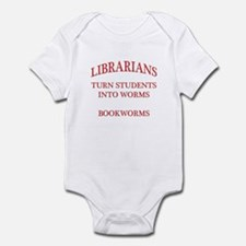 Librarians Bookworms Red Letters Infant Bodysuit