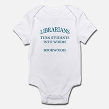 Librarians Bookworms Blue Letters Infant Bodysuit