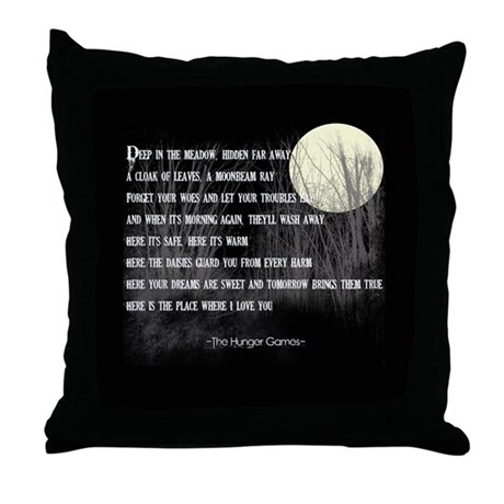 No Throw Pillows On The Bed Song : Song For Rue Throw Pillow by THEHUNGERGAMESFanStore