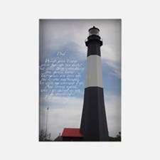 DAD lighthouse Rectangle Magnet