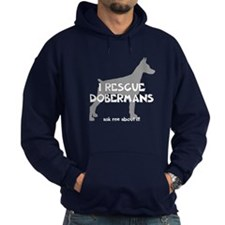 I RESCUE Dobermans Hoodie