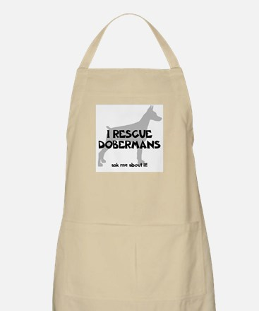 I RESCUE Dobermans Apron