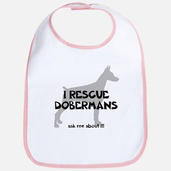 I RESCUE Dobermans Bib