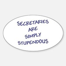 Sec are Stupendous (Blue Letters) Decal