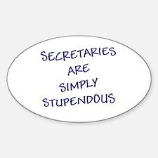 Sec are Stupendous (Blue Letters) Sticker (Oval)