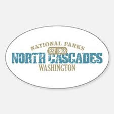 North Cascades National Park Sticker (Oval)