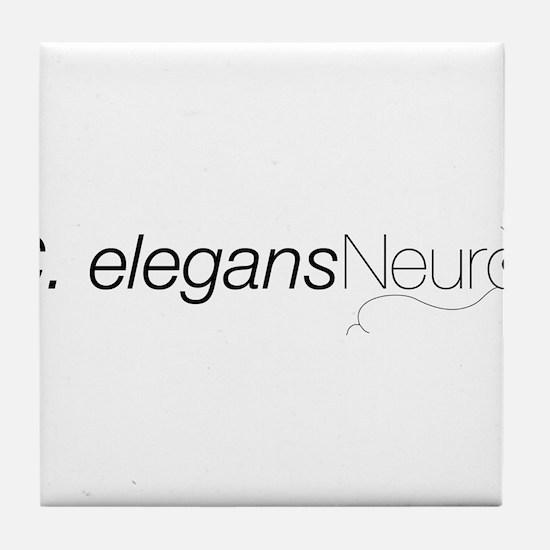 2008 C. elegans Neuro Mtg Tile Coaster