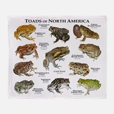 Toads of North America Throw Blanket