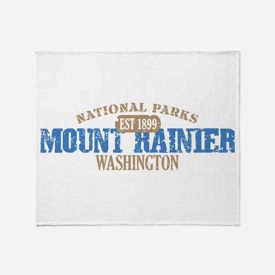 Mount Rainier National Park W Throw Blanket