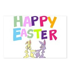 Cute Bunny Happy Easter 2012 Postcards (Package of