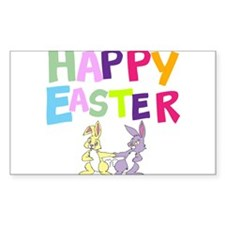Cute Bunny Happy Easter 2012 Decal