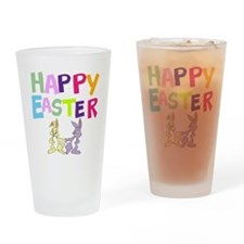 Cute Bunny Happy Easter 2012 Drinking Glass