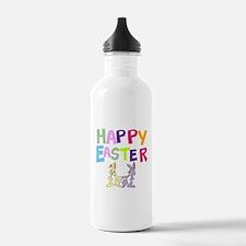 Cute Bunny Happy Easter 2012 Water Bottle