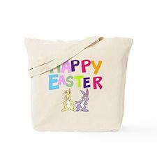 Cute Bunny Happy Easter 2012 Tote Bag