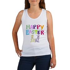 Cute Bunny Happy Easter 2012 Women's Tank Top