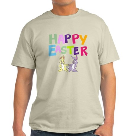 Cute Bunny Happy Easter 2012 Light T-Shirt