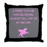 Unicorn pillow Throw Pillows