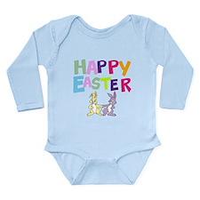 Cute Bunny Happy Easter 2012 Long Sleeve Infant Bo