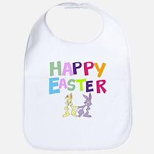 Cute Bunny Happy Easter 2012 Bib