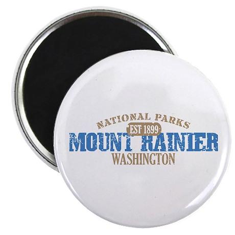 """Mount Rainier National Park W 2.25"""" Magnet (100 pa"""
