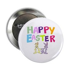 """Cute Bunny Happy Easter 2012 2.25"""" Button"""