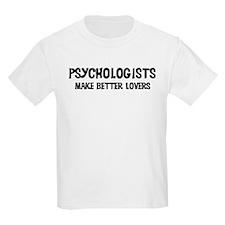 Psychologists: Better Lovers Kids T-Shirt