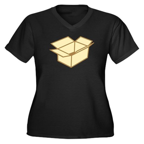 Cardboard box Women's Plus Size V-Neck Dark T-Shir