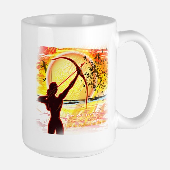 Katniss Radiant as the Sun Large Mug