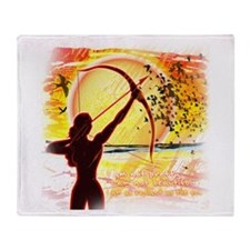 Katniss Radiant as the Sun Throw Blanket