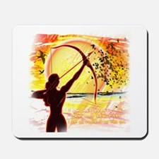 Katniss Radiant as the Sun Mousepad
